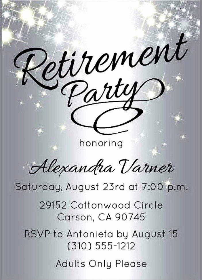 Retirement Invitation Template Free Best Of Retirement Party Invitation Template Free
