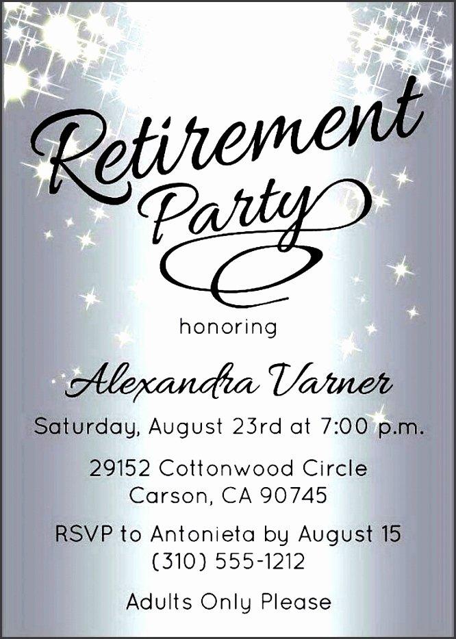 Retirement Invitation Template Free Elegant 10 Retirement Party Invitation Template Sampletemplatess
