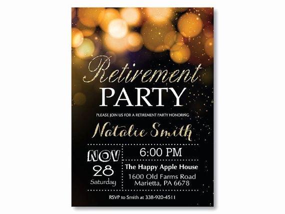 Retirement Invitation Template Free Elegant Invitations Retirement Party Free Printable