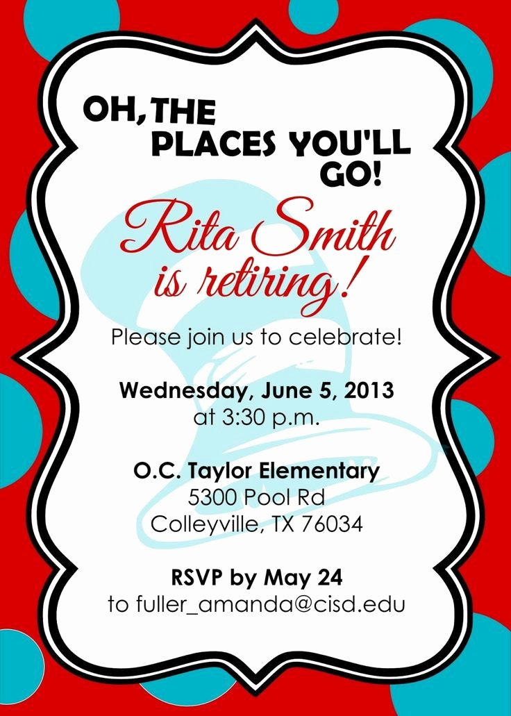 Retirement Invitation Template Free Inspirational 10 Best Images About Retirement Invites On Pinterest