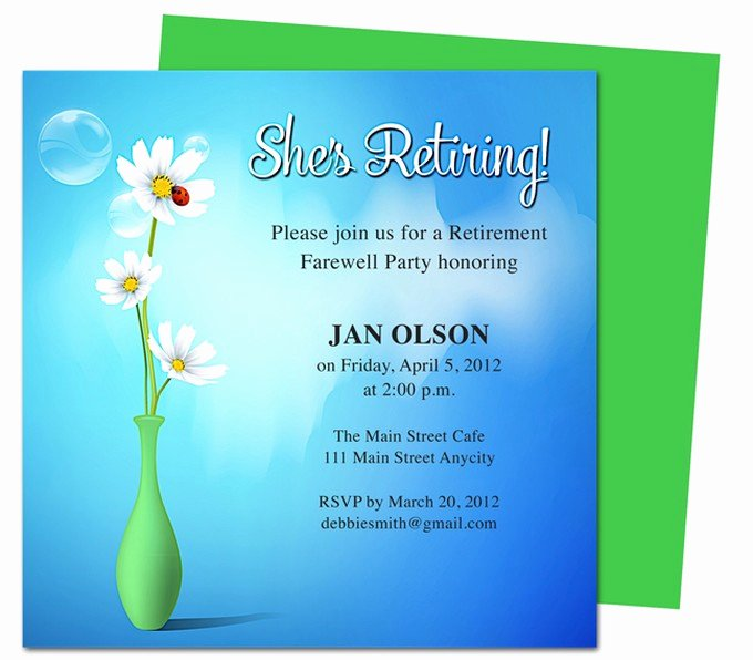 Retirement Invitation Template Free Inspirational Tips How to Create Appealing Retirement Party Invitations