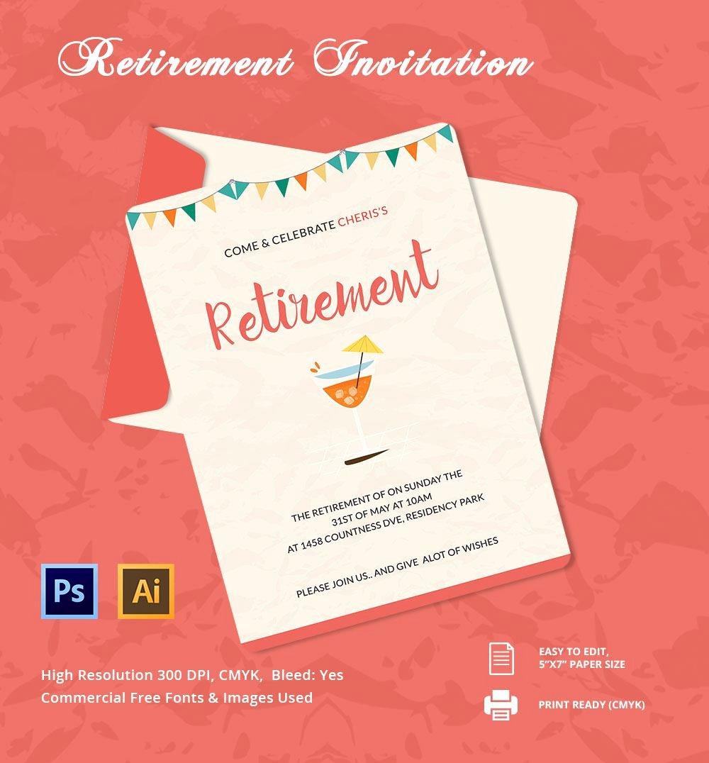 Retirement Invitation Template Free Lovely Retirement Invitation Template Retirement Party