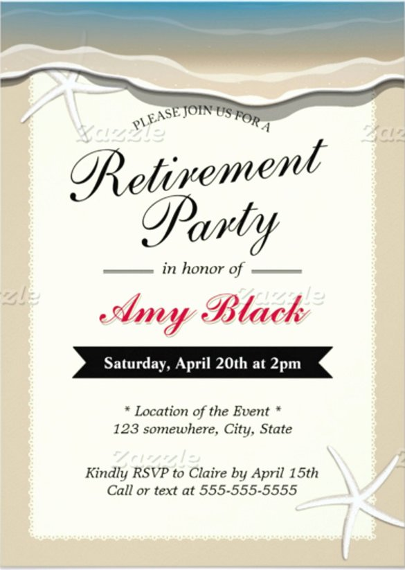 Retirement Invitation Template Free Luxury 25 Retirement Invitation Templates Psd Vector Eps Ai