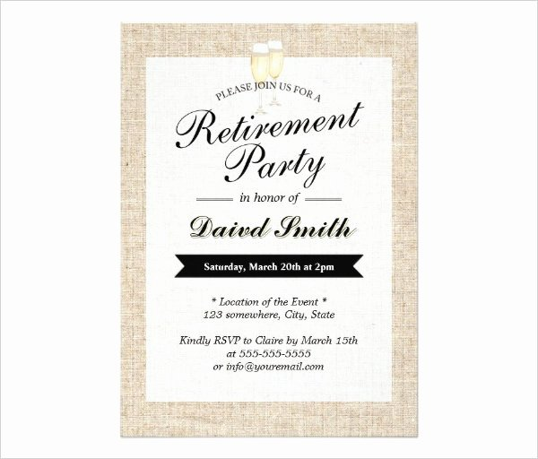 Retirement Invitations Template Free Best Of 36 Retirement Party Invitation Templates Psd Ai Word