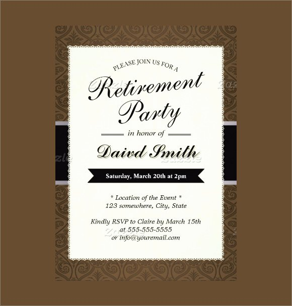 Retirement Invitations Template Free Fresh 12 Retirement Party Invitations