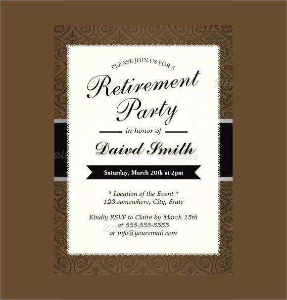 Retirement Invitations Template Free Fresh 12 Retirement Party Invitations