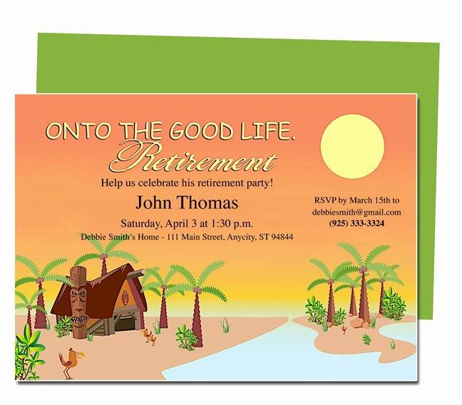 Retirement Invitations Template Free Fresh Retirement Templates Tropicana to the Good Life