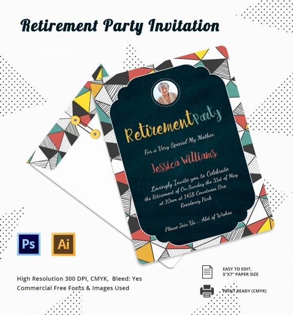 Retirement Invitations Template Free Inspirational Retirement Party Invitation Template 36 Free Psd format