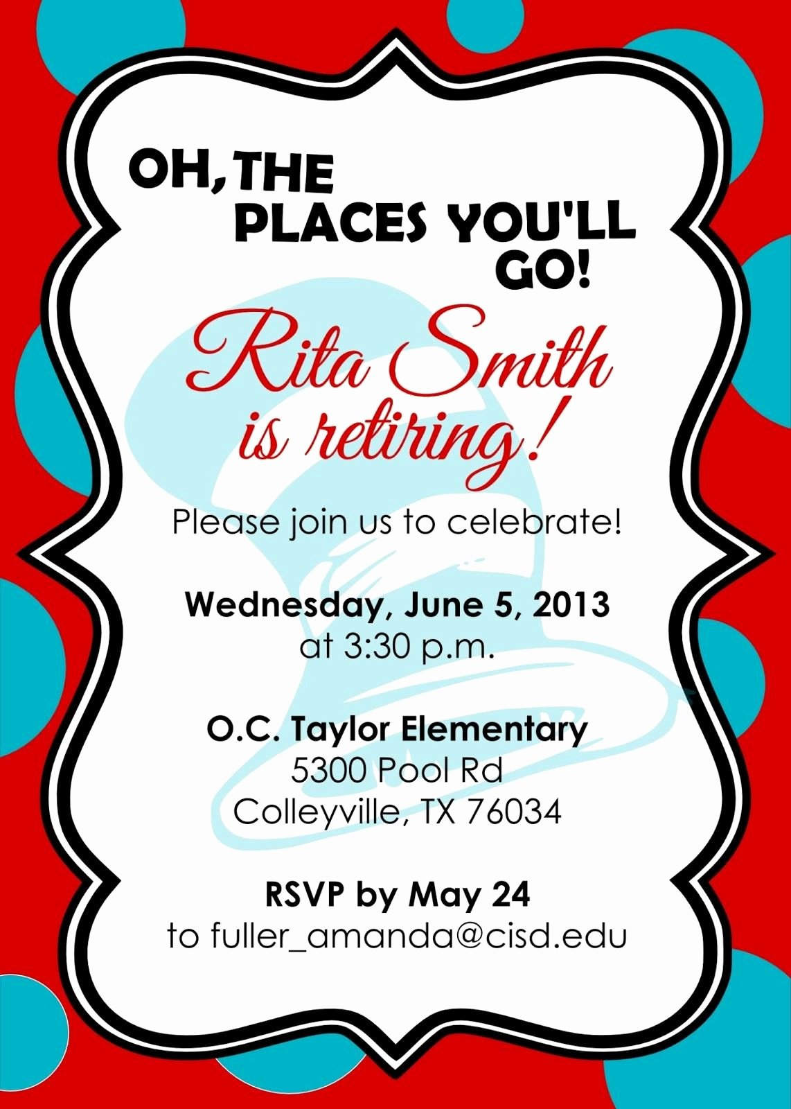 Retirement Invitations Template Free New Retirement Party Invitations Free Templates