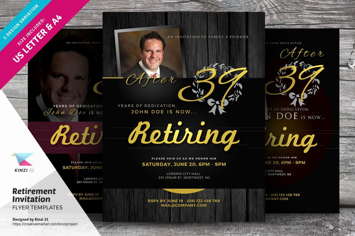 Retirement Party Flyer Template Awesome Retirement Invitation Flyers Flyer Templates Creative
