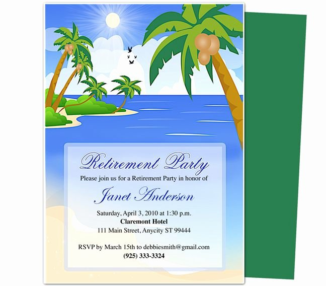 Retirement Party Flyer Template Elegant Retirement Templates Paradise Retirement Party
