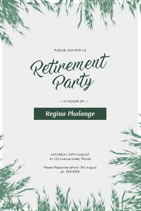 Retirement Party Flyer Template Fresh Retirement Party Flyer Template