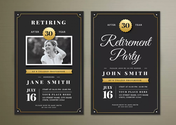 Retirement Party Flyer Template Inspirational 15 Retirement Party Invitation & Flyer Templates Xdesigns