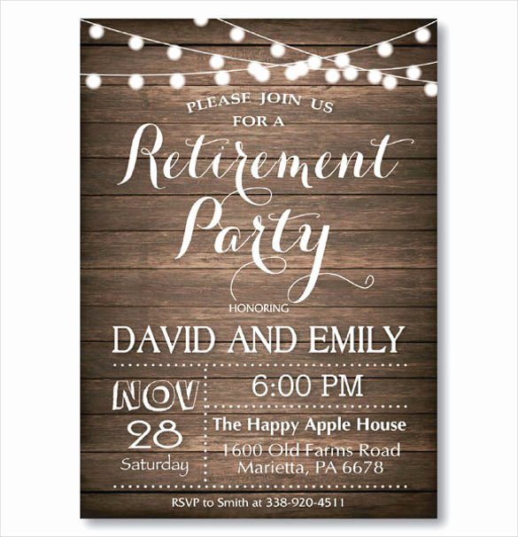 Retirement Party Flyer Template Inspirational 36 Retirement Party Invitation Templates Psd Ai Word