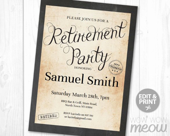 Retirement Party Flyer Template New 11 Retirement Party Flyer Templates to Download