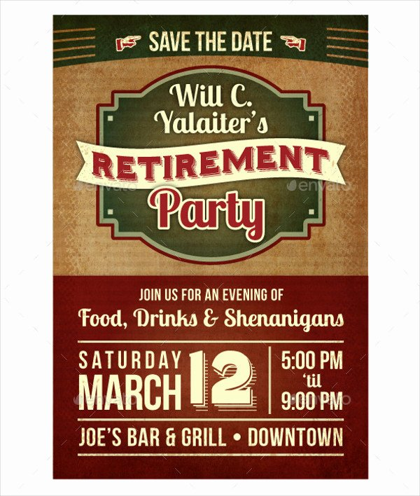 Retirement Party Flyer Template New 77 Party Flyer Designs Psd Vector Ai Eps