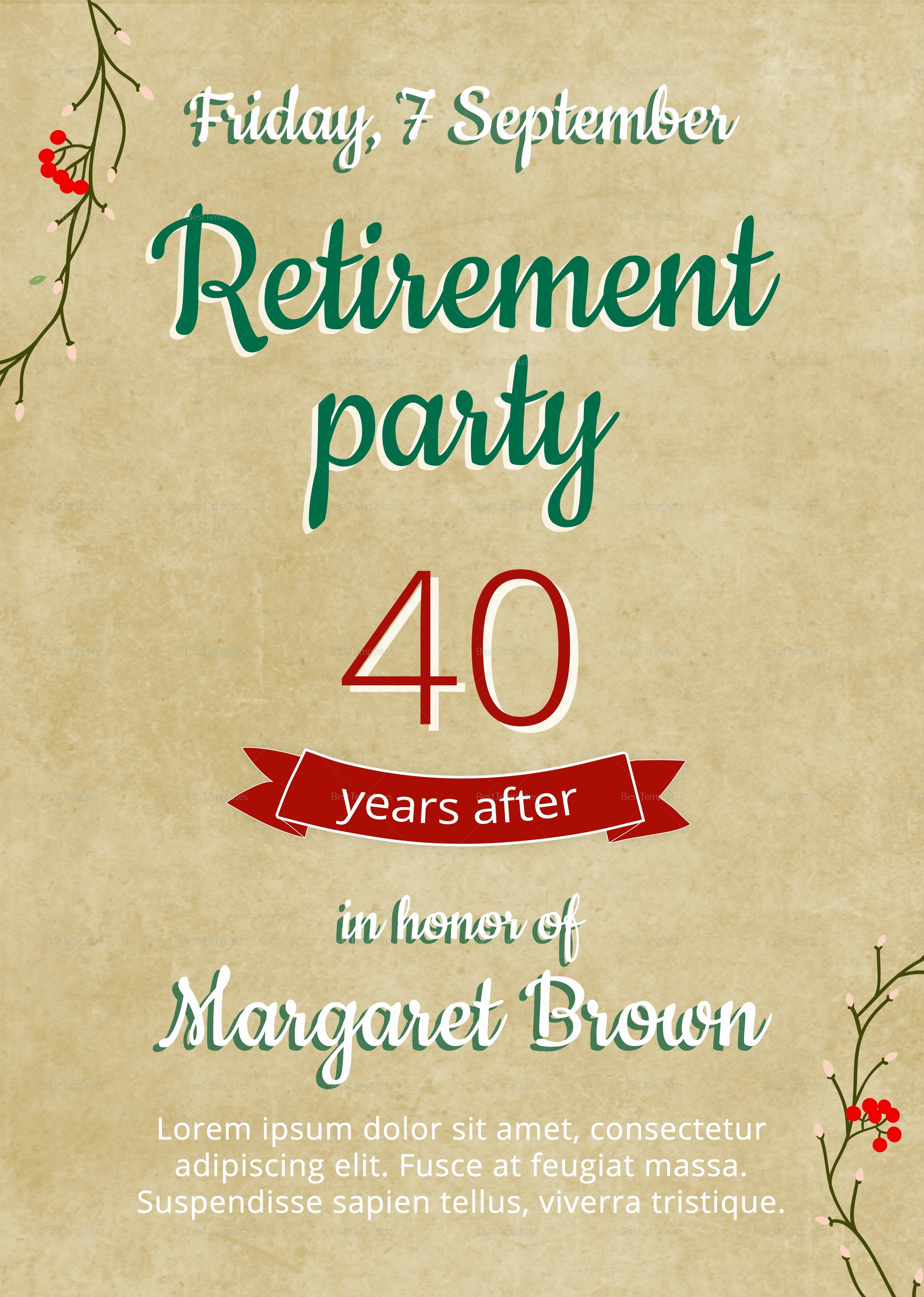 Retirement Party Flyer Template New Retirement Flyer Template Free Templates