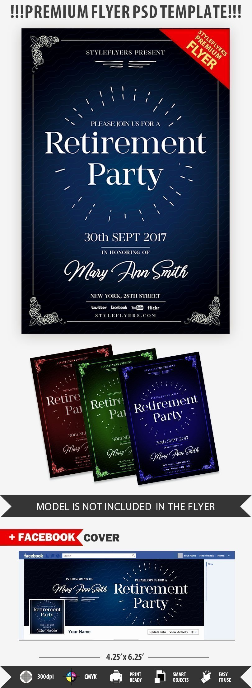 Retirement Party Flyer Template New Retirement Psd Flyer Template Styleflyers