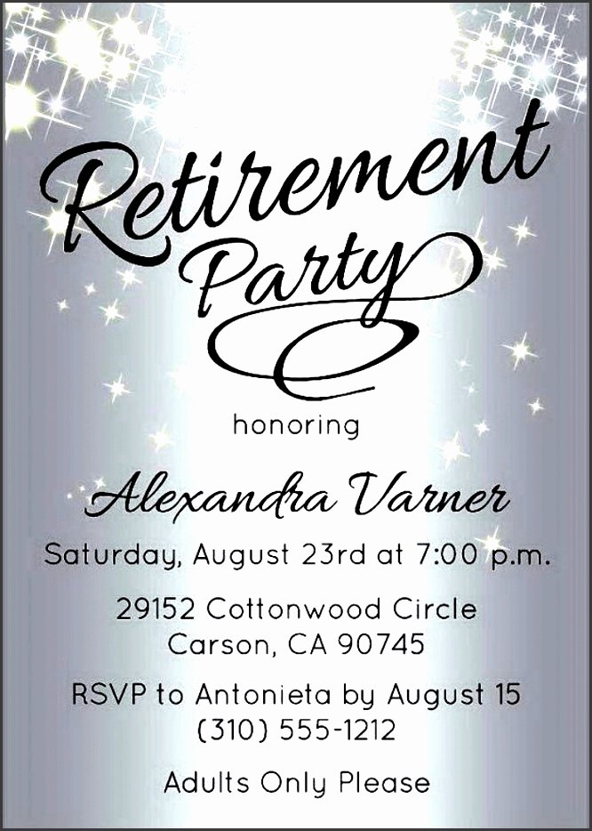 Retirement Party Flyer Template Unique 10 Retirement Party Invitation Template Sampletemplatess