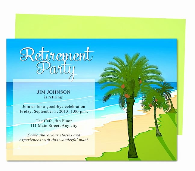 Retirement Party Invitation Template Awesome Tropical Oasis Retirement Party Invitation Templates Use