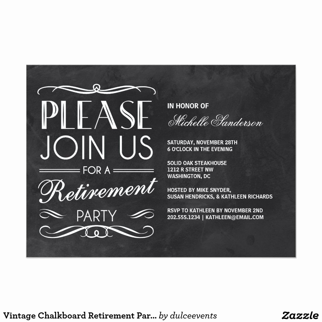 Retirement Party Invitation Template Best Of Vintage Chalkboard Retirement Party Invitation