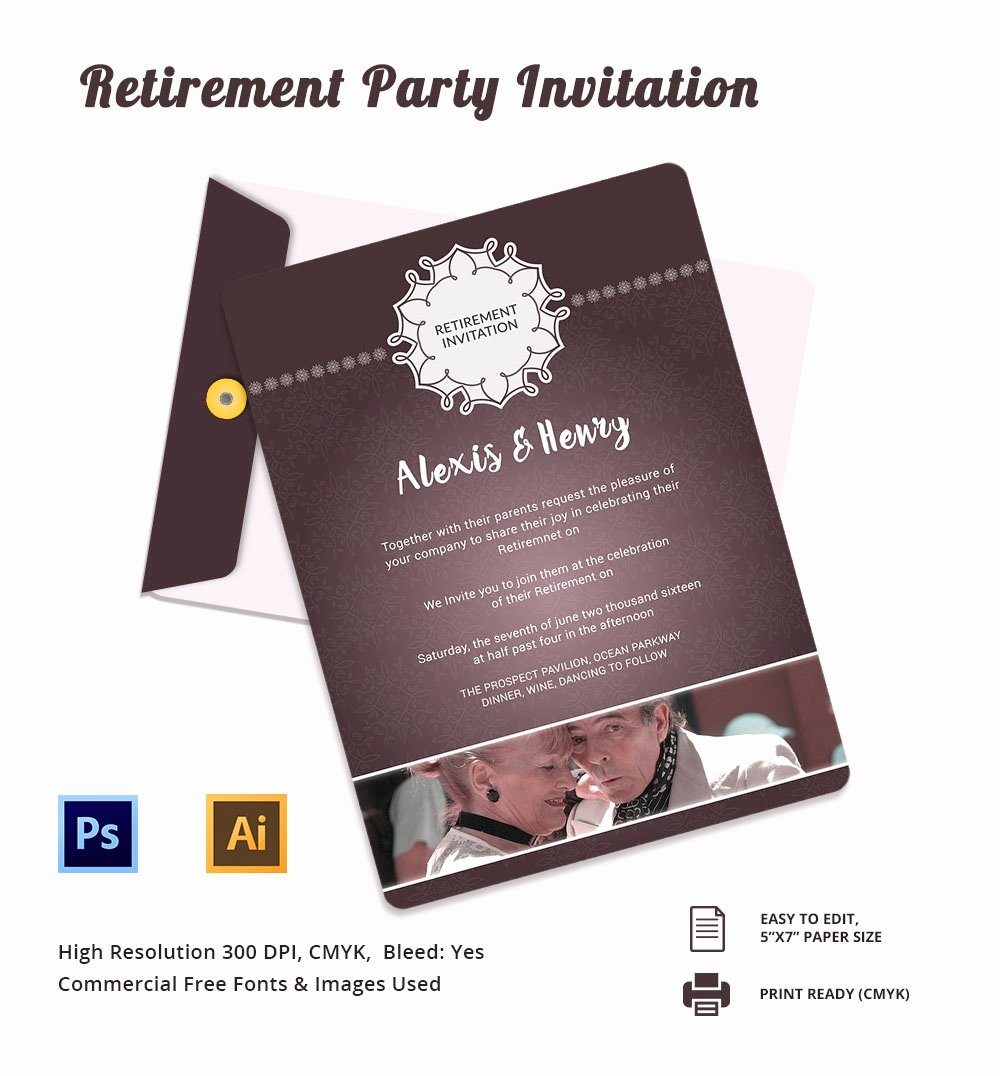 Retirement Party Invitation Template Fresh Retirement Party Invitation Template – 36 Free Psd format
