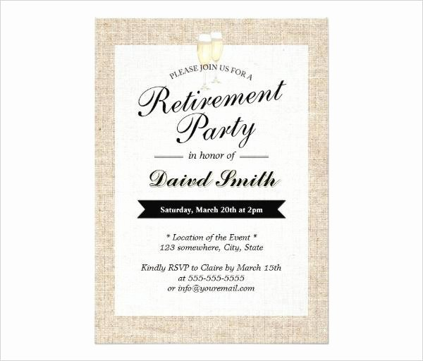 Retirement Party Invitation Template Luxury 36 Retirement Party Invitation Templates Free Download