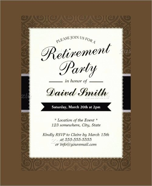 Retirement Party Invitation Template Luxury Free Retirement Party Invitation Templates for Word