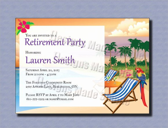 Retirement Party Invitation Template New Retirement Party Invitation 7 Premium Download