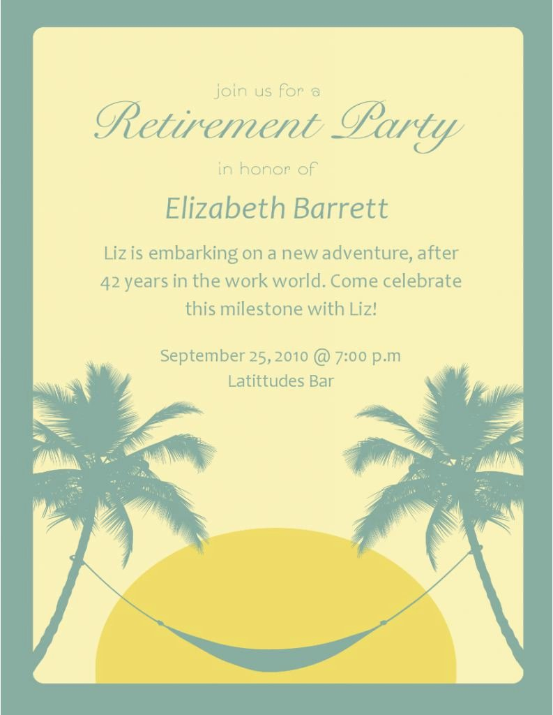 Retirement Party Invitation Template Unique Retirement Invitation Template Retirement Party
