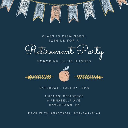 Retirement Party Invitations Template Beautiful Customize 2 876 Retirement Party Invitation Templates