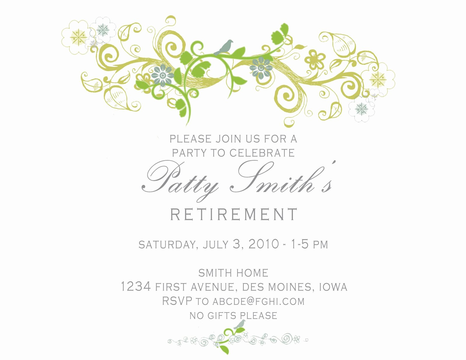 Retirement Party Invitations Template Best Of Idesign A Retirement Party Invitation