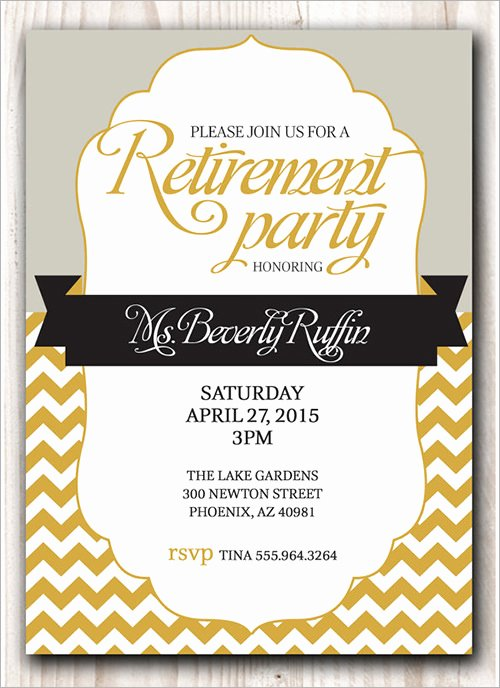 Retirement Party Invitations Template Elegant Sample Invitation Template Download Premium and Free