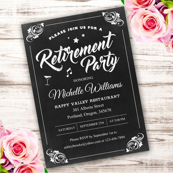 Retirement Party Invitations Template Fresh Best 25 Retirement Invitations Ideas On Pinterest