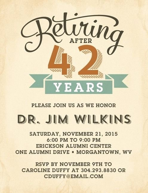 Retirement Party Invitations Template Fresh Refined Retirement Party Invitation Postcards In Rust or