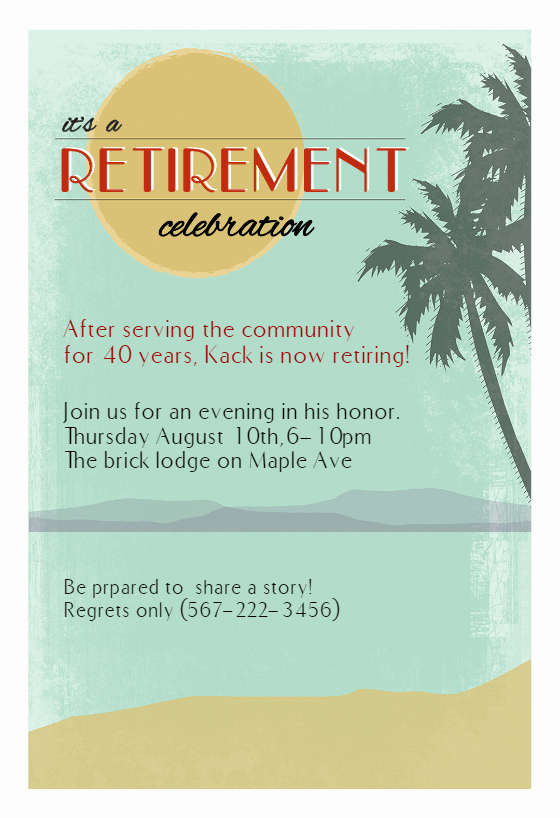 Retirement Party Invitations Template Lovely Its A Retirement Celebration Free Retirement & Farewell