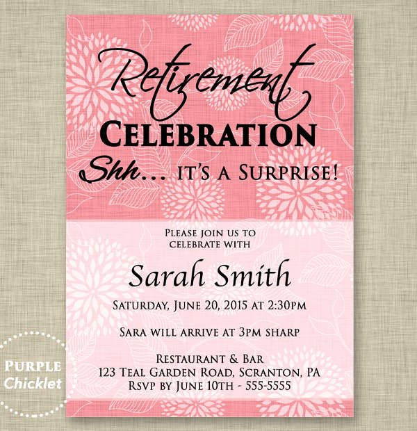 Retirement Party Invitations Template Luxury Party Invitation Templates