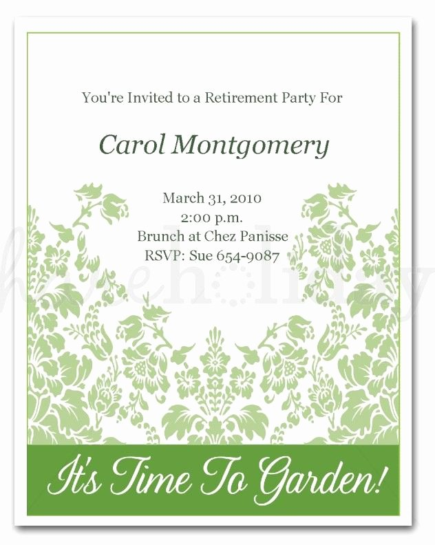 Retirement Party Invitations Template Luxury Retirement Invitation Template Word