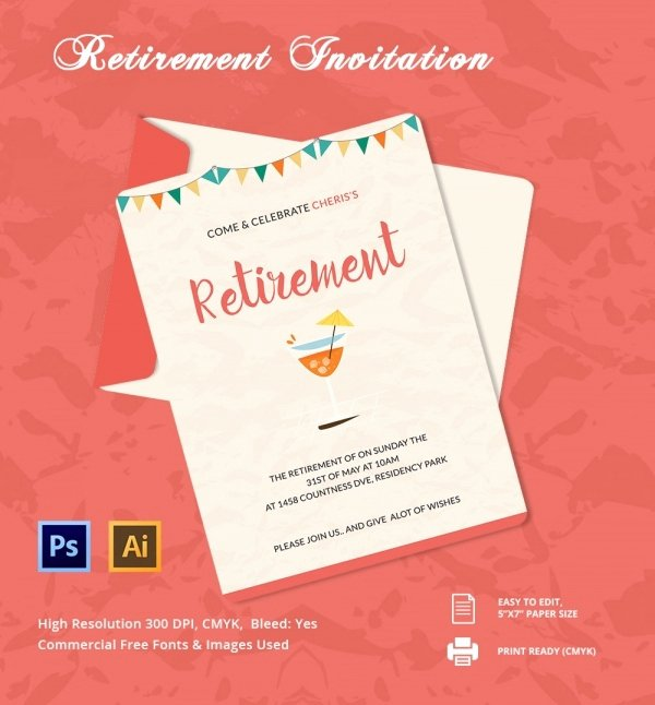 Retirement Party Invitations Template New 33 Party Invitation Templates Free Psd Vector Eps Ai