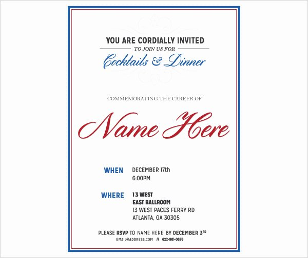 Retirement Party Invitations Template New 36 Retirement Party Invitation Templates Psd Ai Word