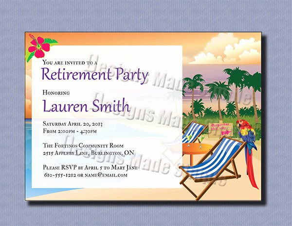 Retirement Party Invite Template Beautiful 36 Retirement Party Invitation Templates Psd Ai Word