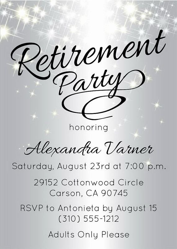 Retirement Party Invite Template Beautiful Best 25 Retirement Invitations Ideas On Pinterest