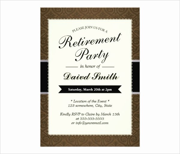 Retirement Party Invite Template Elegant 36 Retirement Party Invitation Templates Psd Ai Word