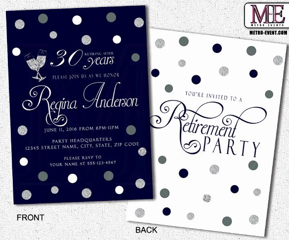 Retirement Party Invite Template Elegant Retirement Party Invitation Template 36 Free Psd format