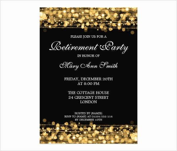 Retirement Party Invite Template Fresh Retirement Party Invitation Template 36 Free Psd format