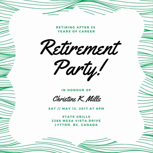 Retirement Party Invite Template Inspirational Customize 3 999 Retirement Party Invitation Templates