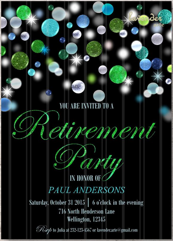 Retirement Party Invite Template Lovely 12 Retirement Party Invitations