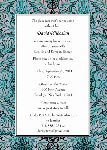 Retirement Party Invite Template Lovely Retirement Party Invitation Rpit 20 5x7 ⋆ Ipv Studio