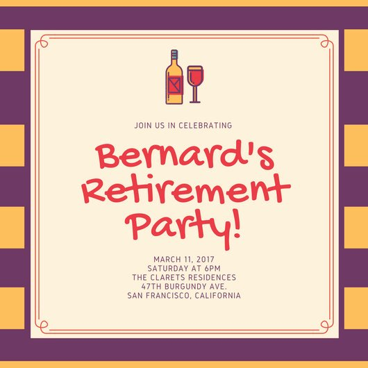 Retirement Party Invite Template Luxury Customize 3 999 Retirement Party Invitation Templates