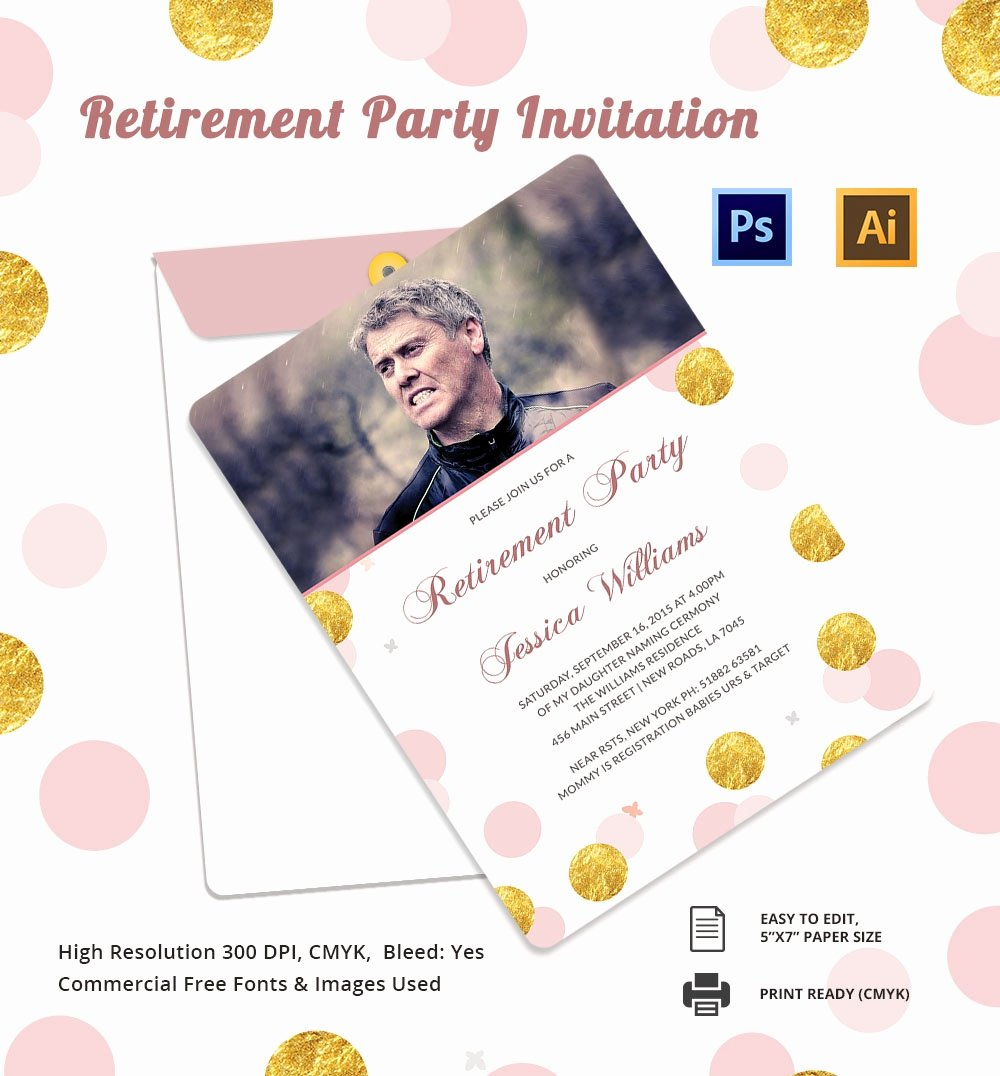 Retirement Party Invite Template Unique 25 Retirement Invitation Templates Psd Vector Eps Ai
